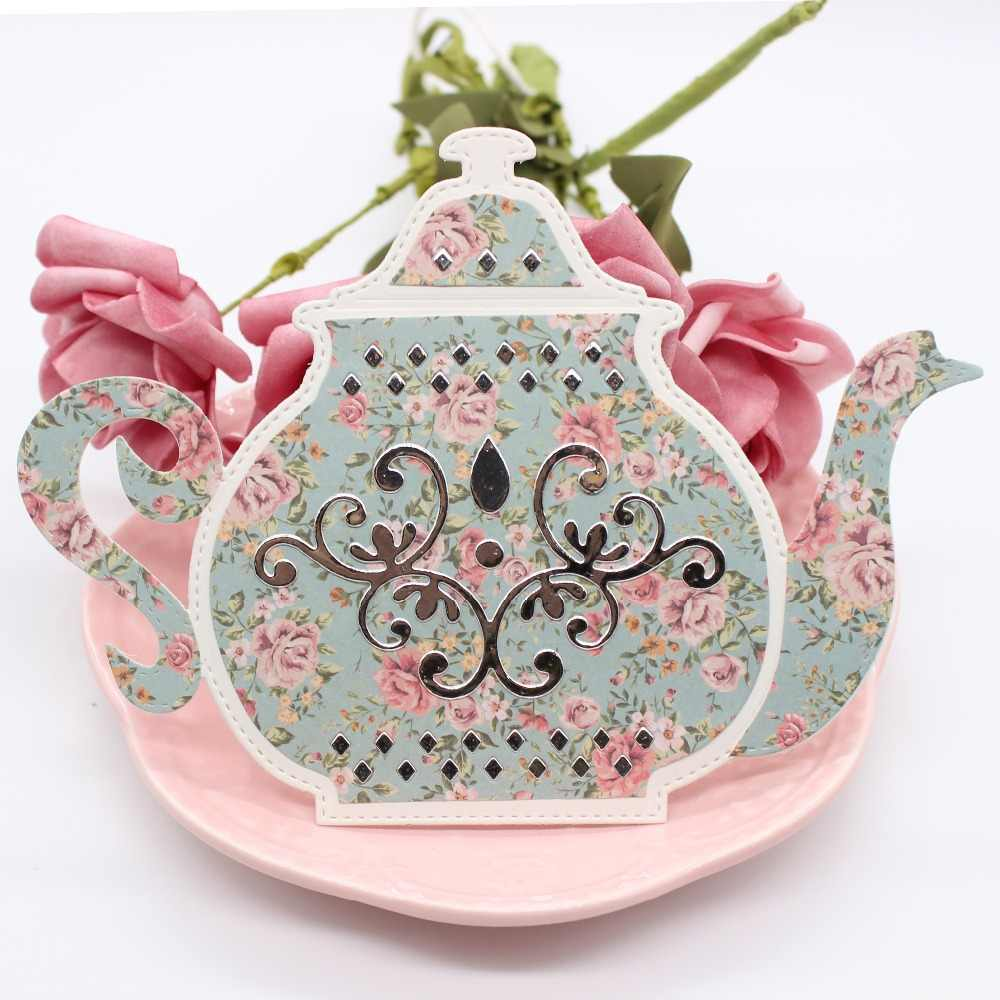 ZFPARTY Tea cup Teapot Metal Cutting Dies Stencils for DIY Scrapbooking/photo album Decorative Embossing DIY Paper Cards