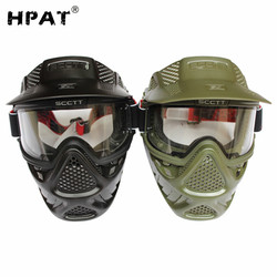 CORAJOSA Dupla Lente Anti Fog Máscara de Paintball Airsoft Máscara
