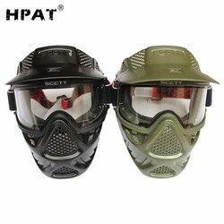 Hpat lente dupla anti nevoeiro máscara de paintball airsoft