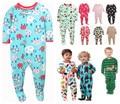 Дети карт мальчиков и девочек руно Сиамские восхождение одежда с ног теплые пижамы ребенок купальник Ползунки мешок пердеть долгий подъем