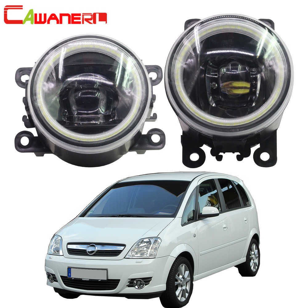 Cawanerl Car 4000LM LED Bulb H11 Fog Light Angel Eye DRL Daytime Running Light 12V For Opel Meriva A 2006 2007 2008 2009 2010