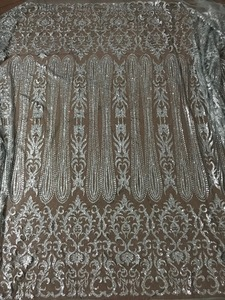 Image 3 - silver Glued glitter Tulle Lace Fabric Embroidered Tulle Fabric JIANXI.C 52826 With glitter