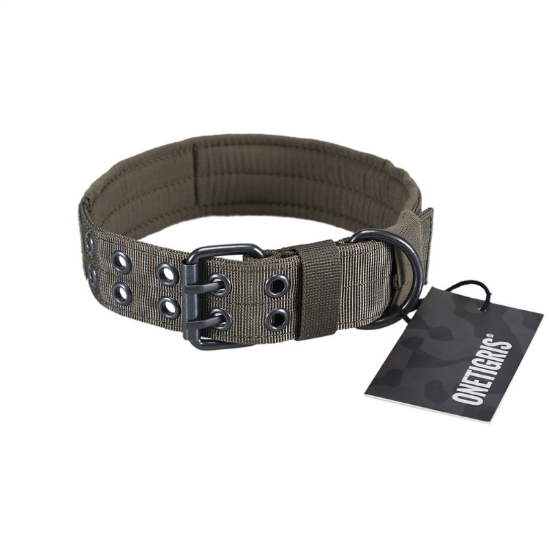 OneTigris Military Tactical Pet Dog Collar Camouflage Hunting Airsoft Paintball Training Gear Adjustable Dog Collar cp d100 dog beeper training locator tracking collar for hunting 1 x cr123a
