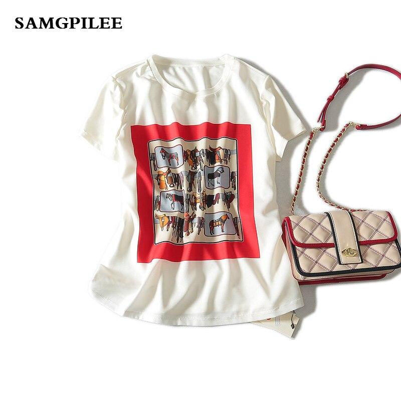 Blusas offre spéciale coréenne grande taille 2019 nouveau décontracté mousseline manches Appliques imprimé o-cou femmes Blouses et chemises L-3xl