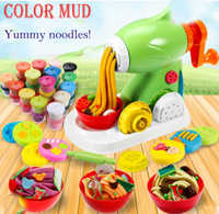 Non-toxic color mud plasticine mold tool set children's noodles Pasta machine play house toys clay toy color mud handmade mud