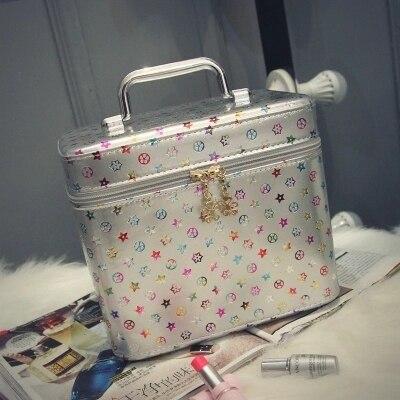 Capacity Large Pu Women Cosmetic Bags Female Makeup Bag Multifunctional Cosmetic Box maleta de maquiagem profissional