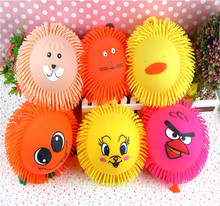 Animal Head Smile Close Maomao Luminous Ball Glowing Ball Vent Children Toys