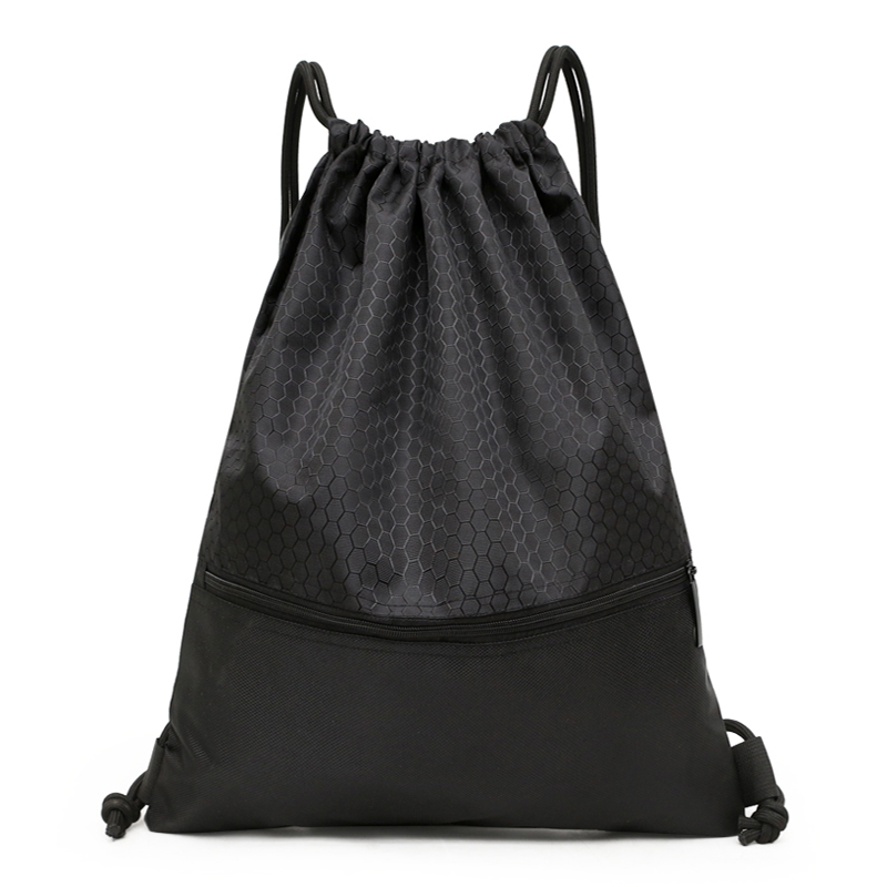 Drawstring Backpack Men Women Sports Fitness Gym Bag Outdoor Travel