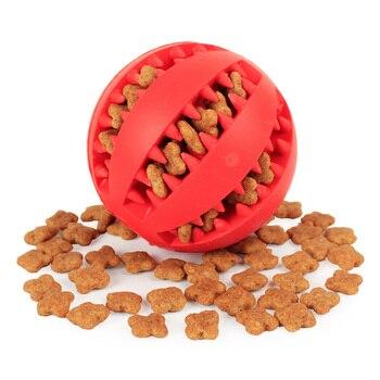 Мягкие игрушки для собак, Забавный интерактивный эластичный шарик, игрушка для жевания собак, мяч для чистки зубов, очень жесткий резиновый ...