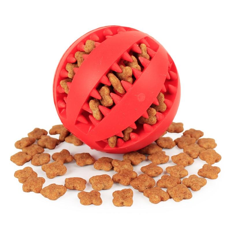 Мягкие игрушки для собак, Забавный интерактивный эластичный шарик, игрушка для жевания собак, мяч для чистки зубов, очень жесткий резиновый мяч для собак-0
