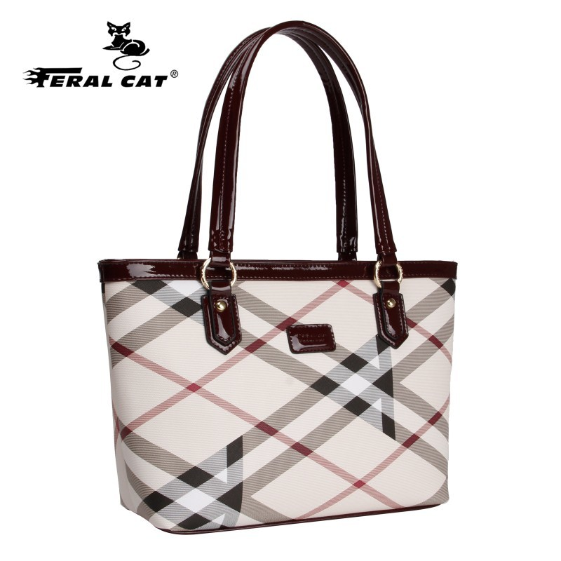 ФОТО High Quality Tote Authentic Luxury Brands Women Bags 2017 New Designer Handbags Womens Plaid Shoulder Bag Free Shipping 6022