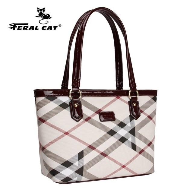 High Quality Tote Authentic Luxury Brands Women Bags 2018 New Designer Handbags Womens Plaid Shoulder Bag