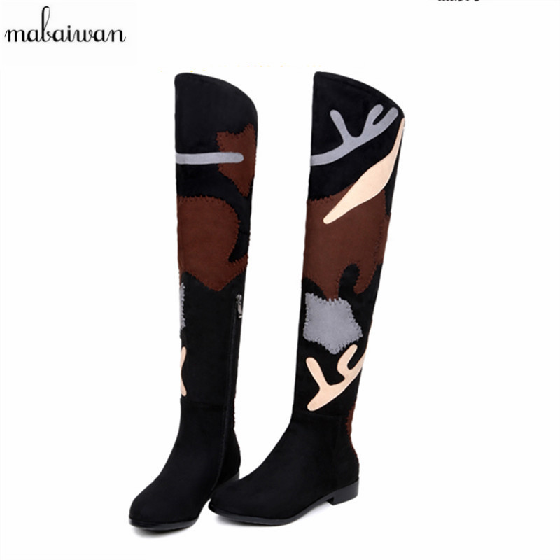 2017 New Fashion Over The Knee Woman Boots Thin High Heel Winter Autumn Boots Shoes Women Sexy Lady Botas Mujer Suede Long Boots 2016 fashion women winter shoes big size 30 50 low heel botas slip on stretch thin leg over the knee boots 30 31 32 33 hqw a98