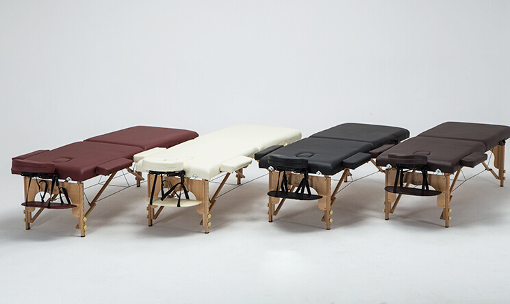 Profesional Portable Spa Massage Tables dilipat dengan Carring Bag - Perabot - Foto 3