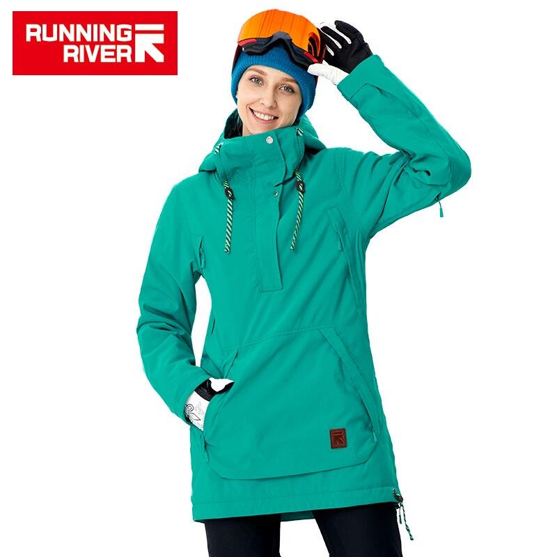 COURSE RIVIÈRE Marque Femmes Vestes de Snowboard Pour L'hiver Chaud mi-cuisse Sports de Plein Air Vêtements de Sport De Haute Qualité Veste # a8011