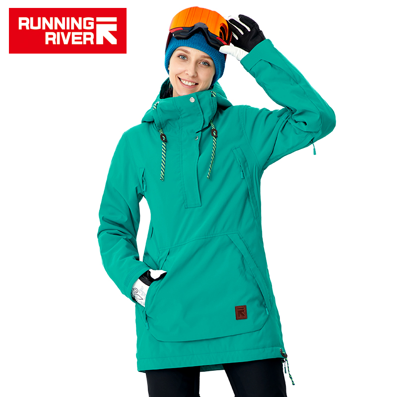 RUNNING RIVER Brand Women Snowboard Jackets For Winter Warm Mid-thigh Outdoor Sports Clothing High Quality Sport Jacket #A8011