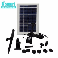 Bringsmart SR 280 5W Water Pump12V DC Solar Fountain Pump Pond Landscape Mini Submersible Water Pumps with Solar Panel