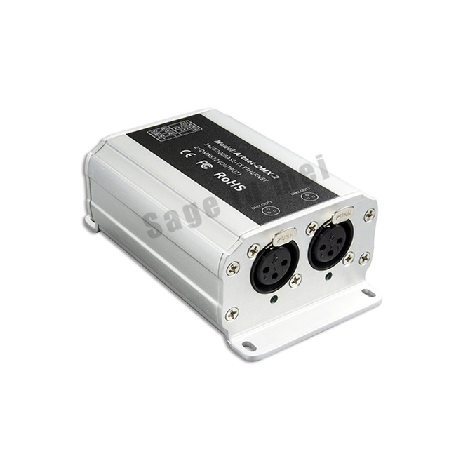 Ltech DC12V Artnet-DMX-2; ArtNet-DMX converter;ArtNet input;DMX 1024 channels output 512x2CH channels by DHL Fedex EMS Express dhl ems 2 lots l