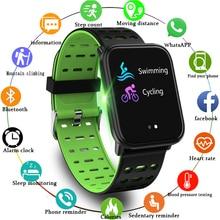 цена на Full Screen Touch Sport smart Band Heart Rate Blood Pressure Monitor Smart Wristband Fitness Tracker Watch Smart Bracelet+Box