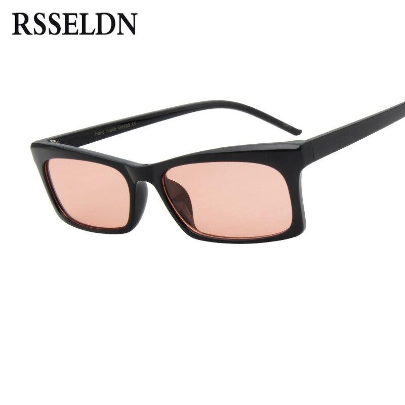 fa22d824ff RSSELDN Rectangle Small Frame Sunglasses Women Brand Designer Fashion Black Square  Sun glasses For Women Vintage Eyewear UV400