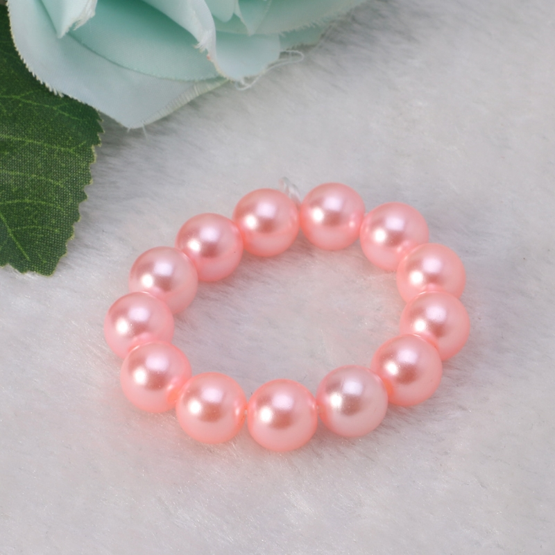 Newborn Photo Props Bracelet Headband Set Baby Glass Pearl Bracelet Shower Gift