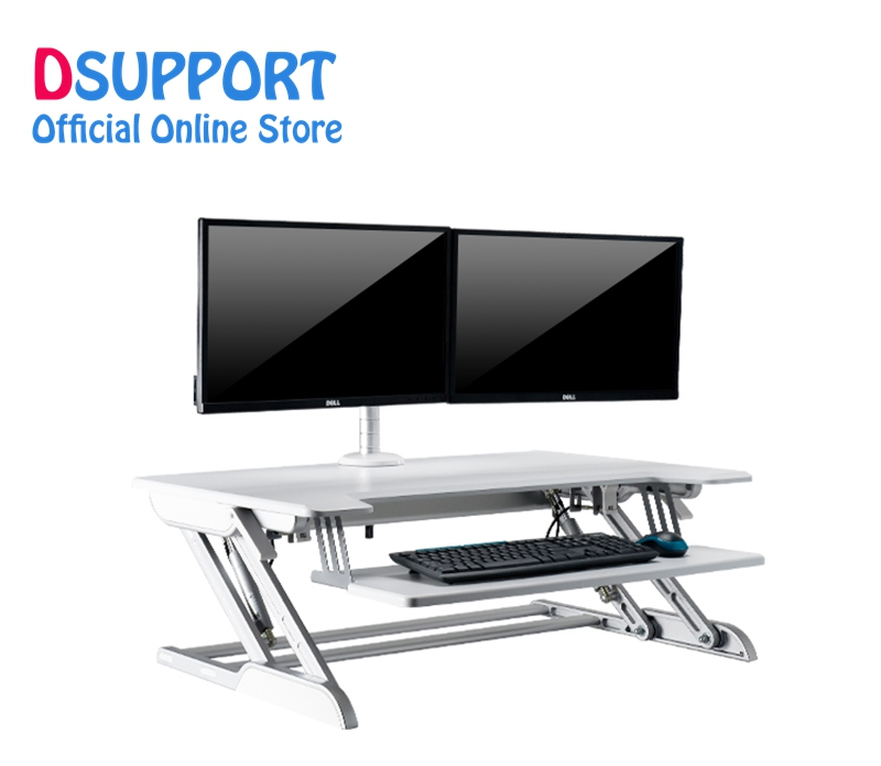 EasyUp hauteur ajuster assis Stand bureau Riser bureau d'ordinateur portable pliable ordinateur portable/moniteur support support avec clavier plateau ID-36