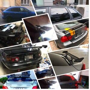 Image 5 - Регулируемый легкий алюминиевый Универсальный тюнинговый задний спойлер для автомобиля, седан, GT Wing, гоночный спойлер, черный зажим, крышка для багажника, 53,15 дюйма, 135 см