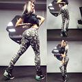 Europa e nos estados unidos camuflagem splicing motion leggings cultivar a moralidade leggings sexy moda mulher leggings
