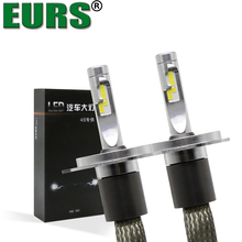 EURS(TM) High Quality Brand 40W 6000K 4800LM Motorcycle Auto LED Headlight Bulbs H1 H3 H4 H7 H11 9005 9006 car styling bright