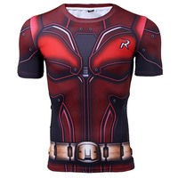 Short Sleeve Compression Shirt Batman Cosplay Robin 3D Printed T Shirts Crossfit Tops Male Fitness Bodybuiding