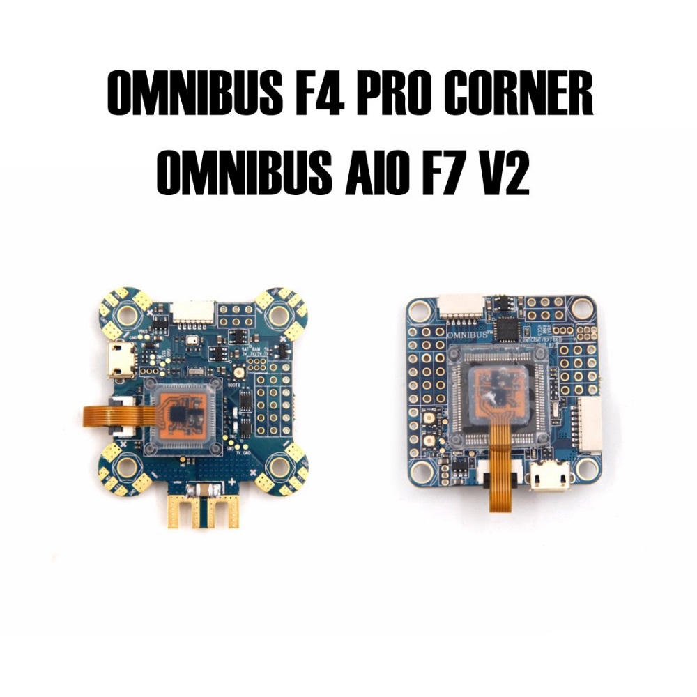 OMNIBUS AIO F7 V2  and OMNIBUS F4 PRO CORNER Flight controller board For RC FPV Racing Cross Drone Quadcopter omnibus f303 b6 v2 f3 flight controller replace integrate osd hub fpv section board for airframe quadcopter multicopter rc drone