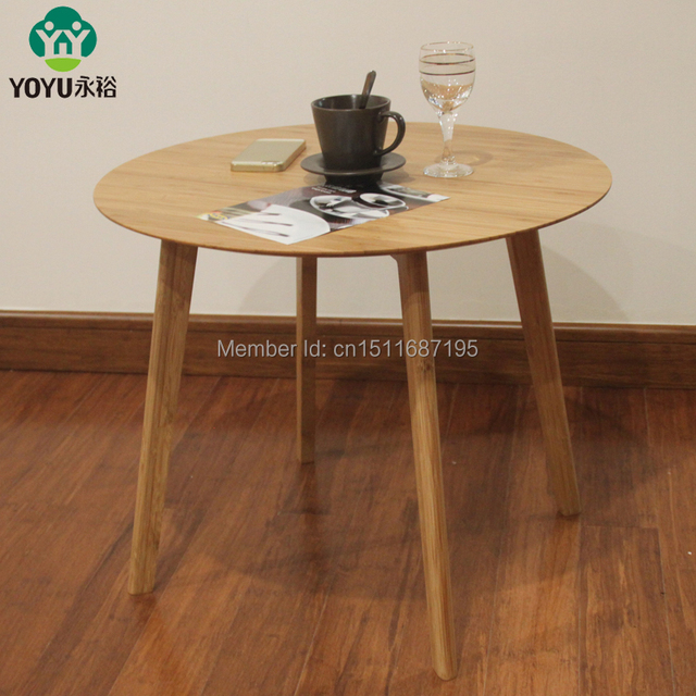Yongyu Bamboo Simple Small Round Coffee Table Ikea European Side A Few Dining