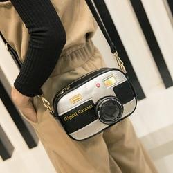 Novidade designer bolsas de alta qualidade feminina personalizado câmera ombro saco retalhos moda laser mensageiro sacos