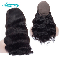 Ashimary Peruvian Lace Front Human Hair Wigs For Women Remy Hair Body Wave Wig Natural Hairline Bleached Knots