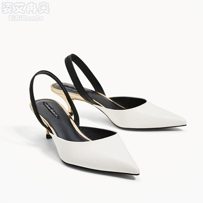 New Arrival Shoes Woman Summer Fashion Women Sandals Concise High Heels Casual Pointed Toe Women Pumps Shallow Women's Shoes xiaying smile summer new woman sandals platform women pumps buckle strap high square heel fashion casual flock lady women shoes