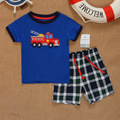 SS2-009,New Collection,  Boys Clothing Sets, 2-Piece, Short T + Shorts, Original, Super Quality, Free Shipping