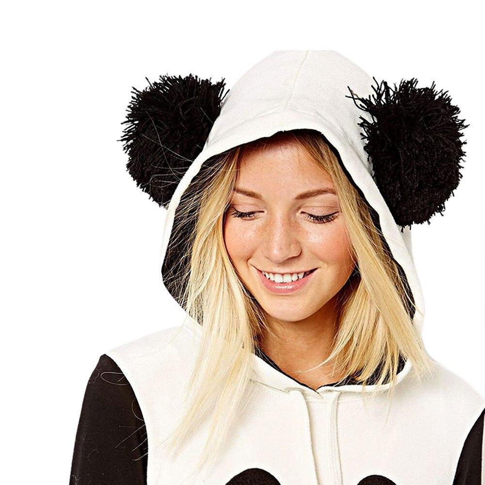 2017 New Fashion Women Cute Panda Design Autumn Winter Hoodie Sweatshirt Long Sleeve Pocket Hooded Pullover Top Blouse Plus Size