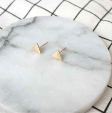 2 Pcs New fashion black Silver Color triangle Jewellery stud earrings for women gifts jewelry Gold Color Boucle D'oreille Femme