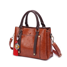 Women Shoulder Bag Tote Handbag Genuine Leather Pattern Crossbody Messenger bags for women 2019 sac a main Ladies Classic T65(China)