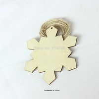 (20pcs/lot) Unfinished Huge Wooden snowflakes Wedding Wishing Save Date Tags Free Strings 4