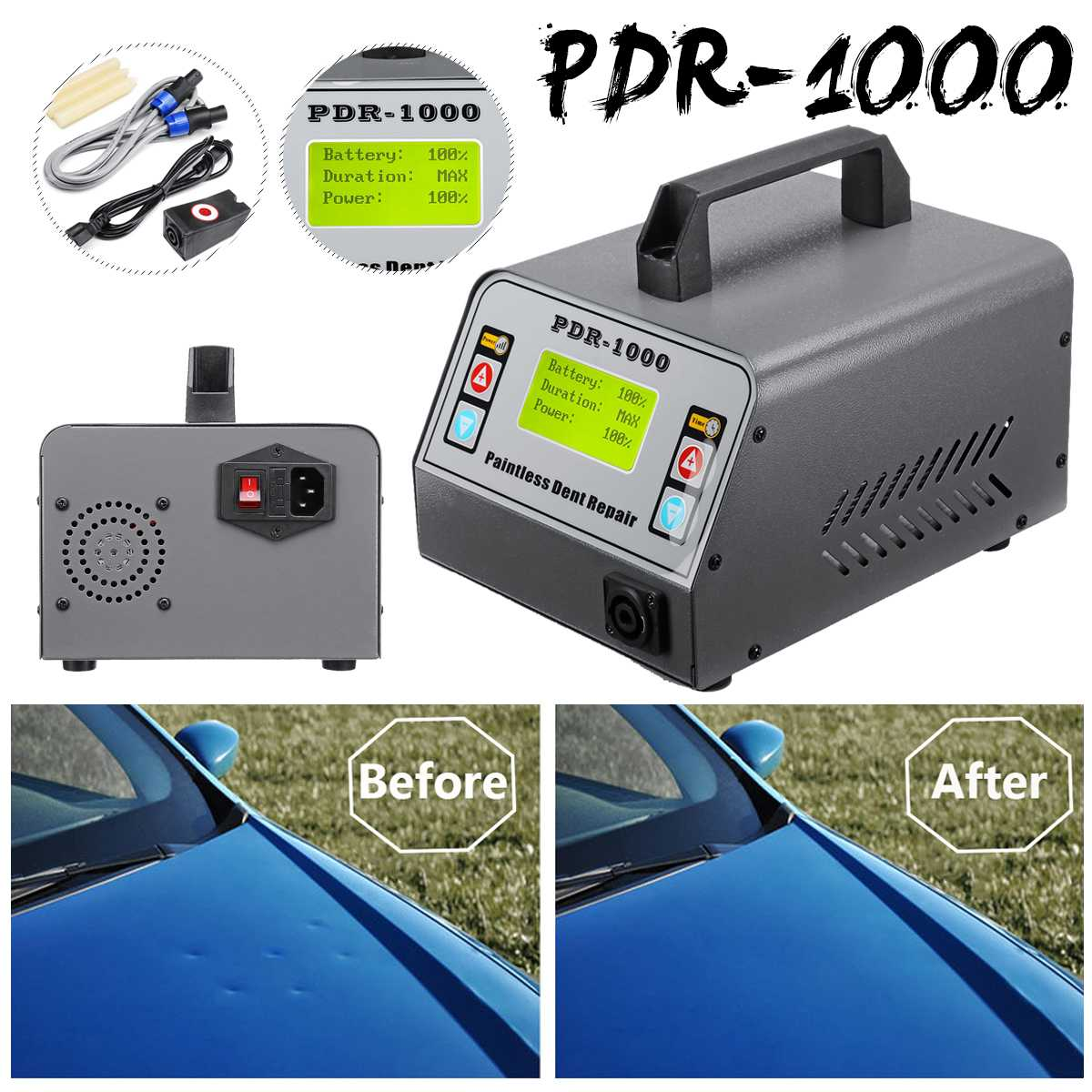Car Dent Repair Remover Induction Heater Tool Set For Removing Dents 1000W EU/US Plug Paintless HotBox Car Body Repair Tool