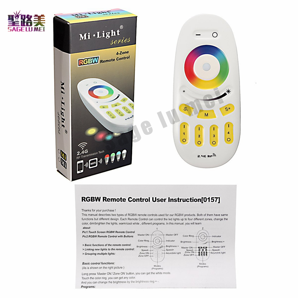 Mi.light 2.4G RGBW/RGB remote control for Bulb&led strip tape lamp Wireless RF Controlle ...