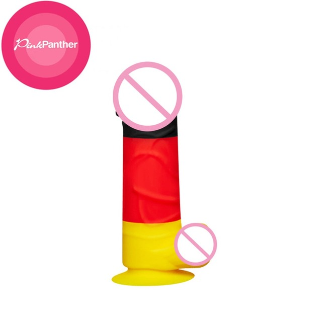 Newest type colorful anal dildo realistic artificial penis fake cock male genital silicone dildos for women adult sex toys