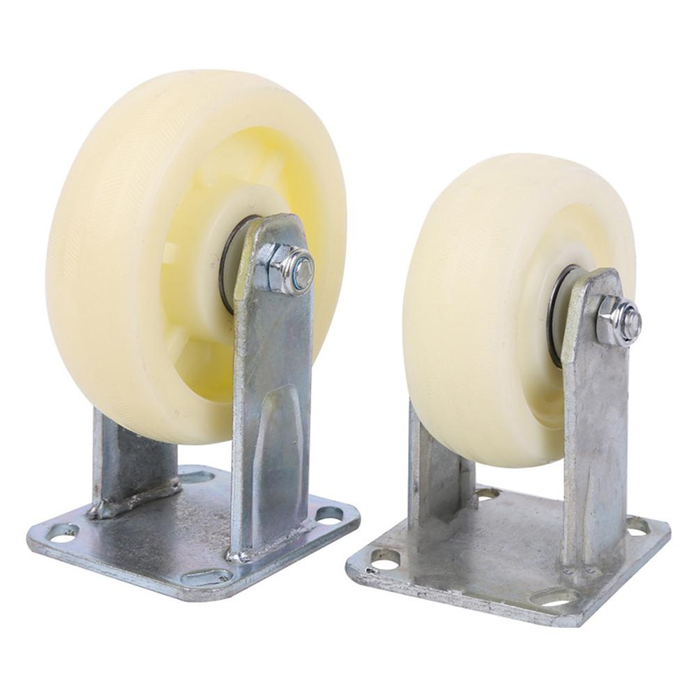 цена на None Heavy Strength Nylon Fixed Caster with Double Bearing Thickened High Hardness Directional Wheel