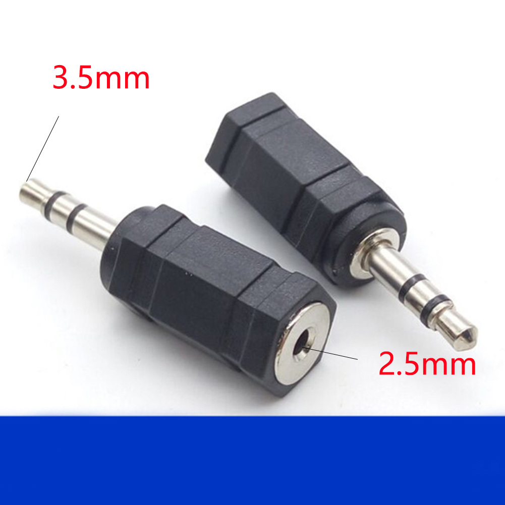 3.5mm To 2.5mm Mono For Smartphone Converter Universal Jack Practical Adapter Audio Straight Stereo Plug Earphone Male To Female