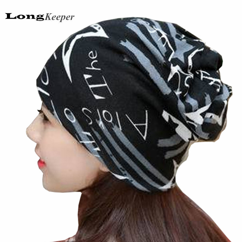 LongKeeper Ladies' Winter Hats Autumn Knit Baggy Beanie Hat Star Style Women Men Warm Cap Girls Beanies Bonnet Circke Caps DWJX1