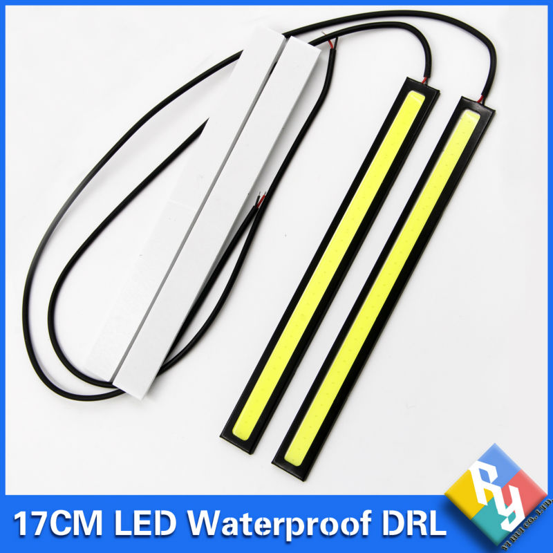 2016 NEW 2Pcs 17cm COB DRL LED Daytime Running Light Auto Lamp External Lights For Universal