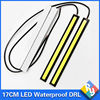 2016 NEW 2Pcs 17cm COB DRL LED Daytime Running Light Auto Lamp External Lights For Universal Car 100% Waterproo Car styling