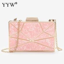 Hot Pink Acrylic Geometric Women Clutch Bags Fashion Designer Evening Party Wedding Bags Purse Handbags Clutches Yellow 2019 brand travel purse acrylic stone totes prom evening bag clutch wallet fashion women handbags party day clutches wedding bags top