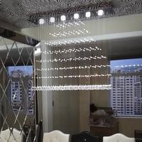 Modern Fashion LED Crystal Pendant Lights Dining Room Pendant Lamp Five Size Optional Customizable Free Shipping